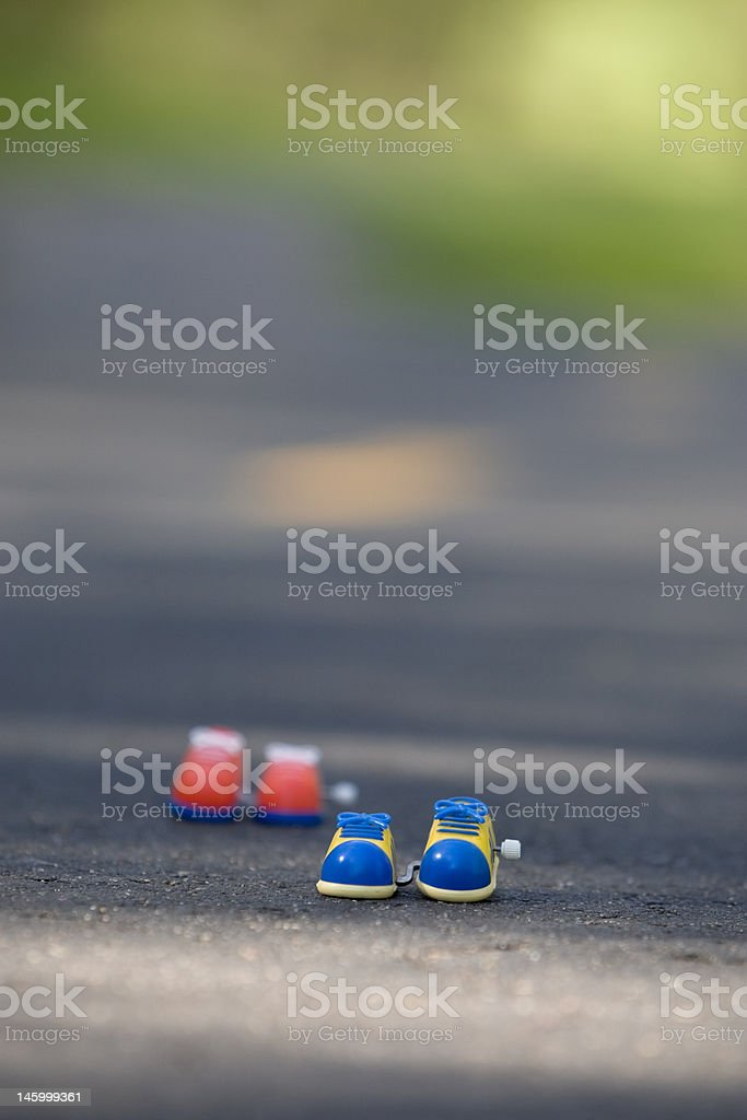 Toy Running Shoes-Vertical royalty-free stock photo