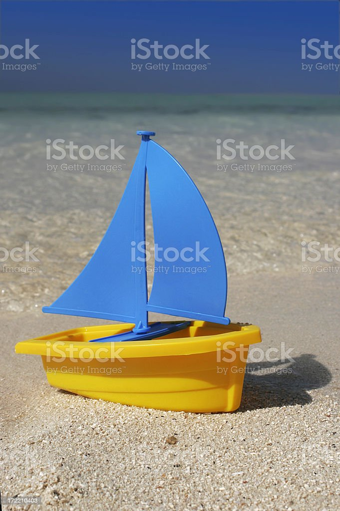 Toy Sailboat royalty-free stock photo