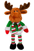 toy santa deer isolated over white