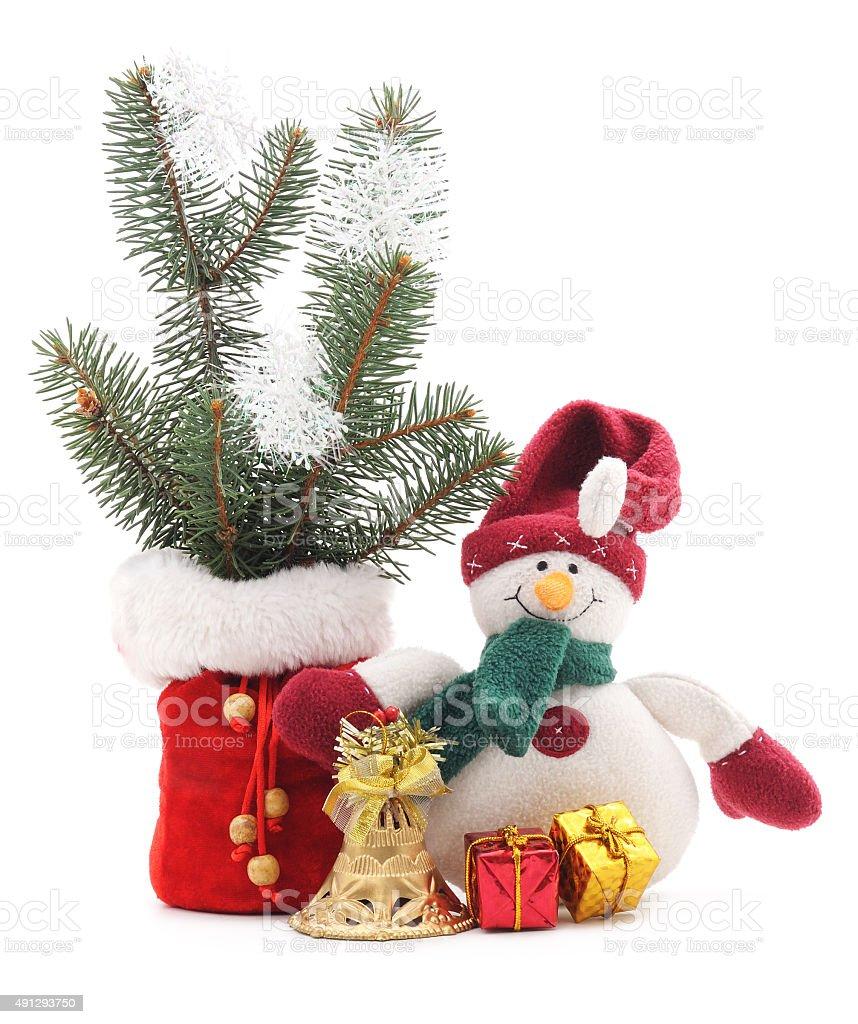 Toy snowman. stock photo