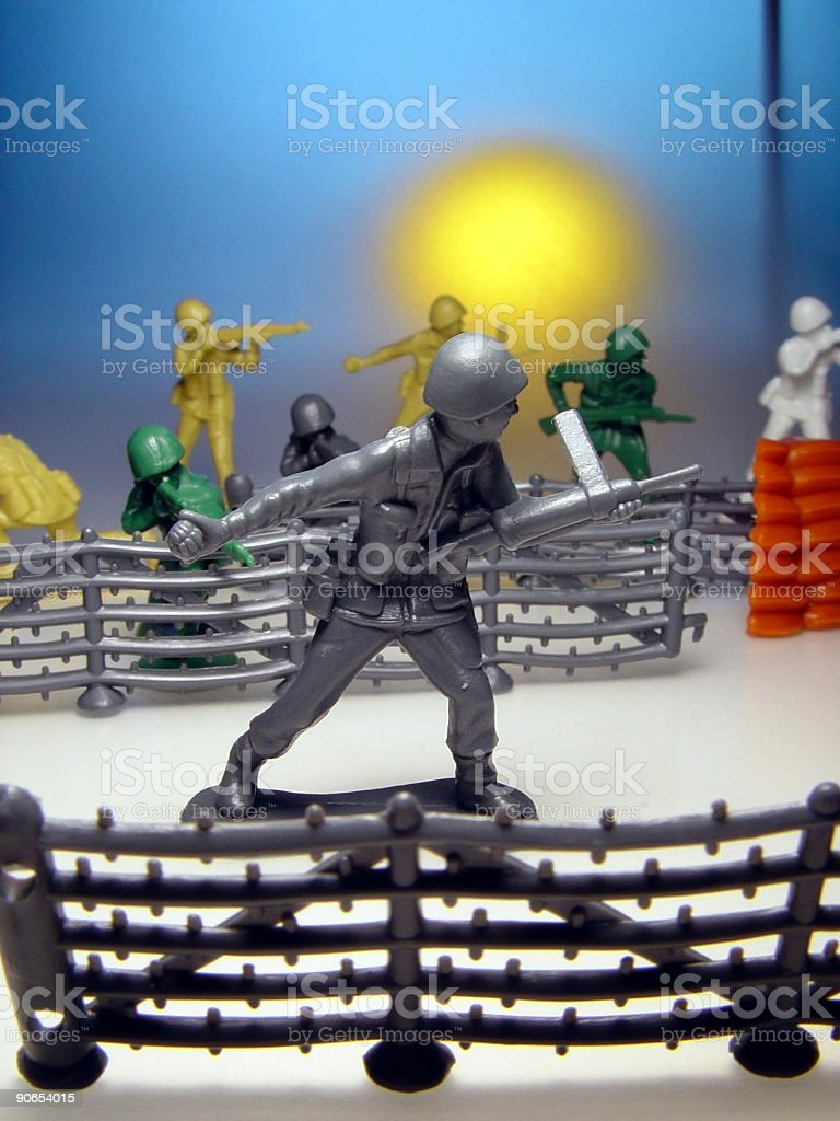 Toy Soldier Battle royalty-free stock photo