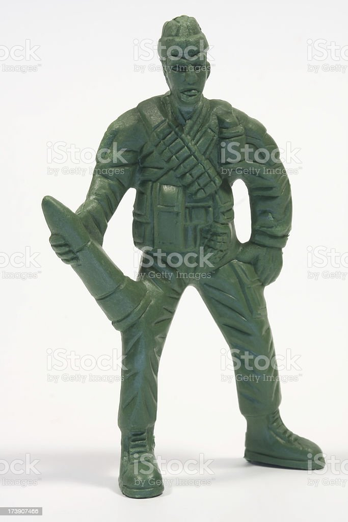 Toy Soldier (Wingman) royalty-free stock photo