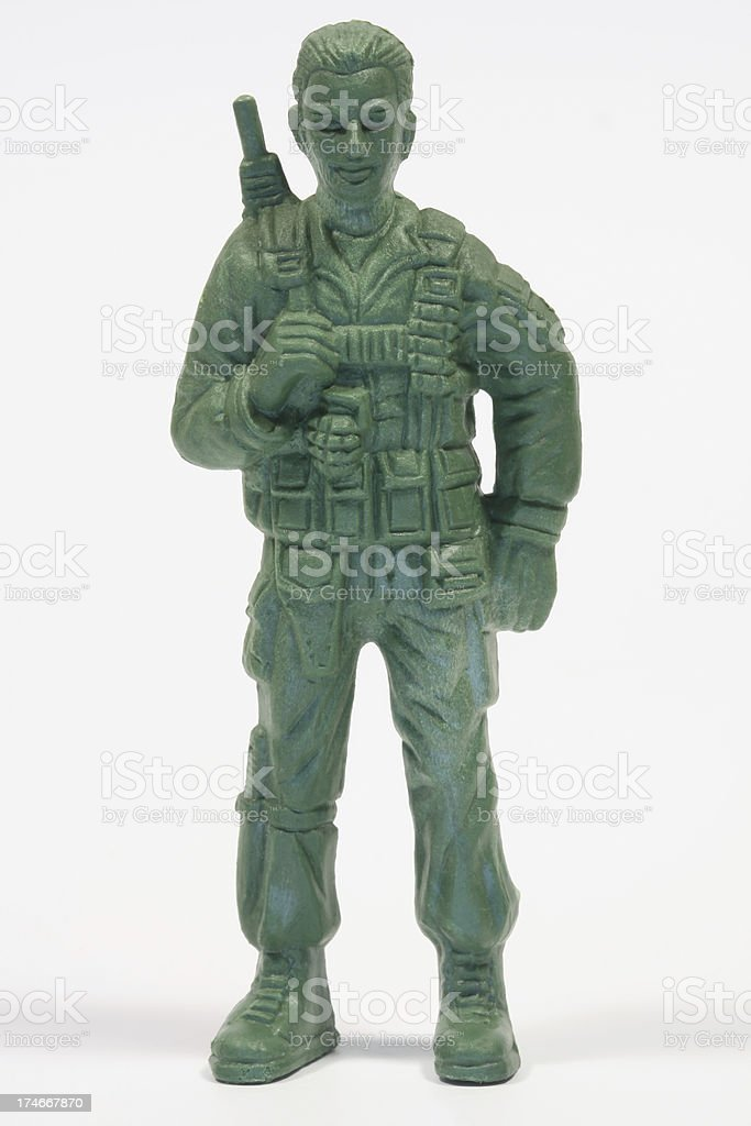 Toy Soldier (Private) royalty-free stock photo