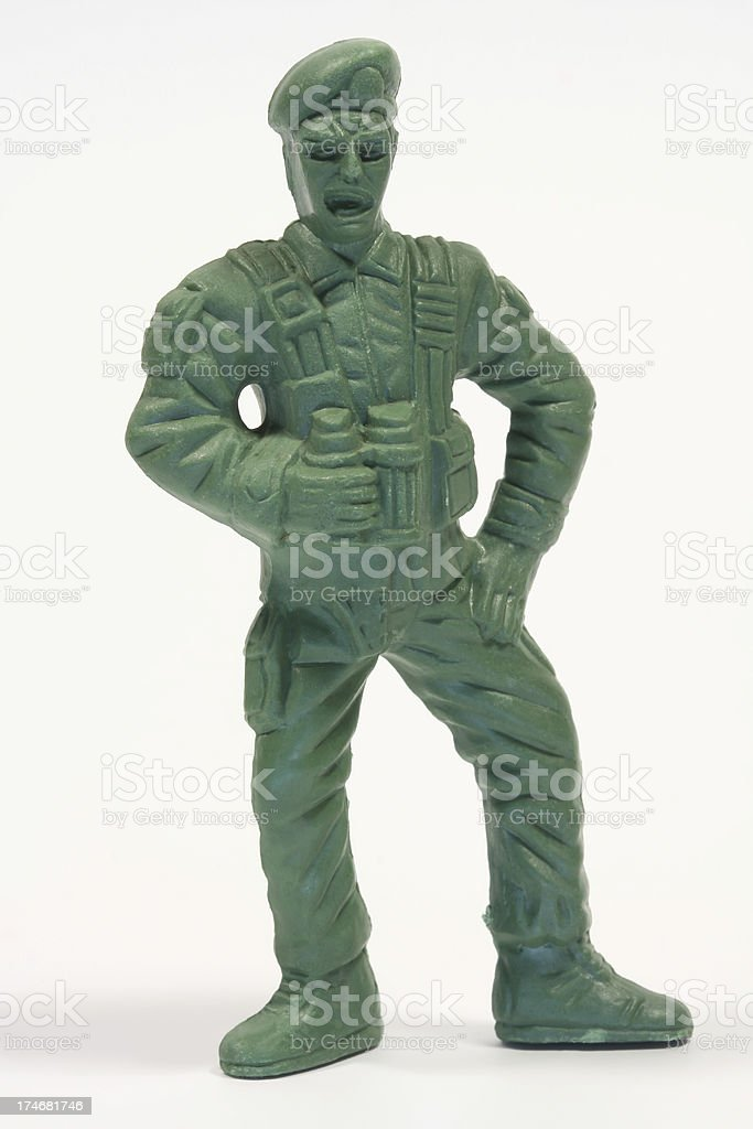 Toy Soldier (Commander) royalty-free stock photo