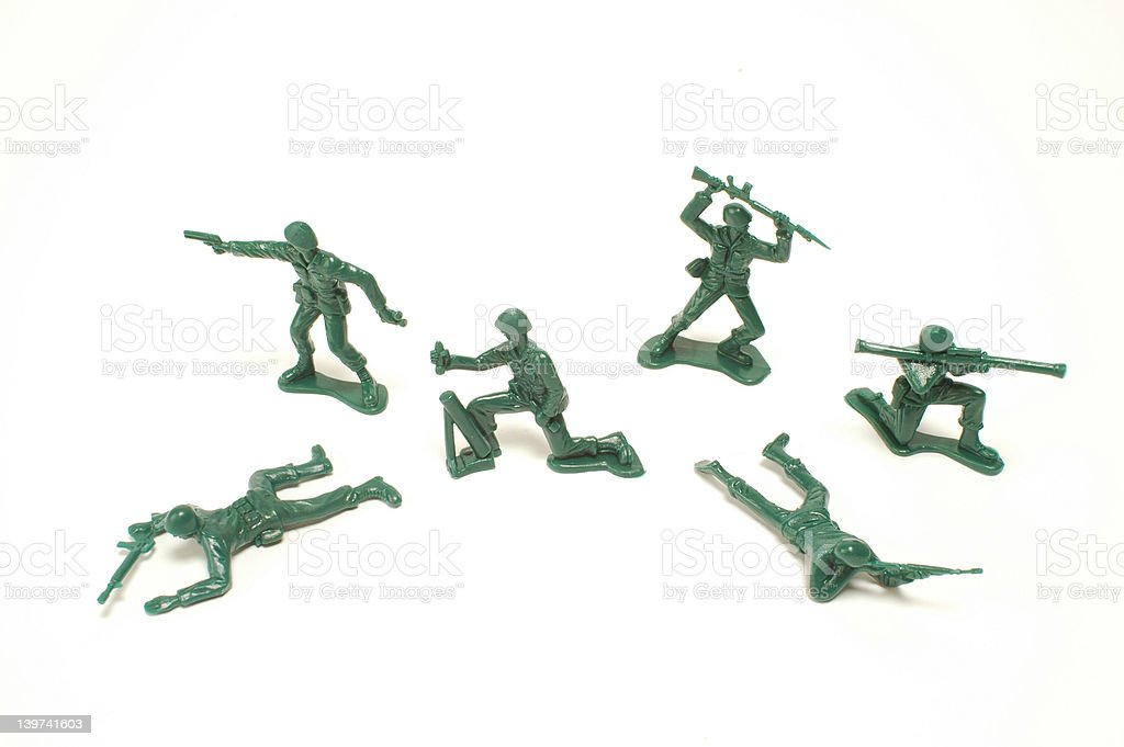 Toy Soldiers 2 royalty-free stock photo