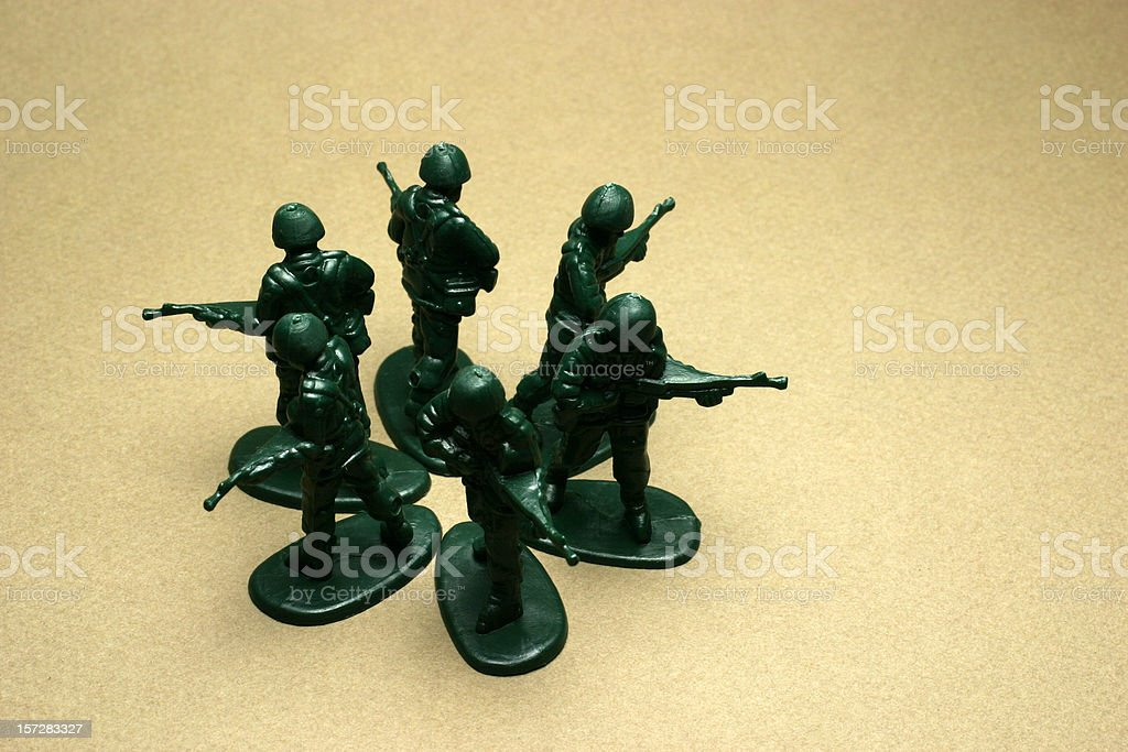 Toy Soldiers Formation royalty-free stock photo