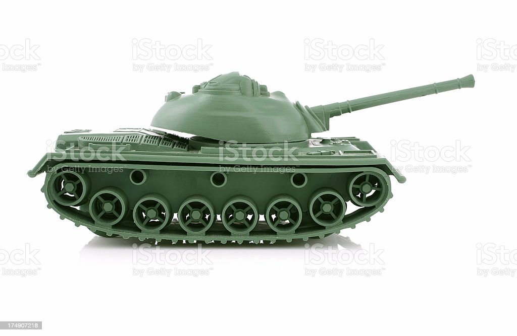 Toy Soldiers Series - Tank royalty-free stock photo