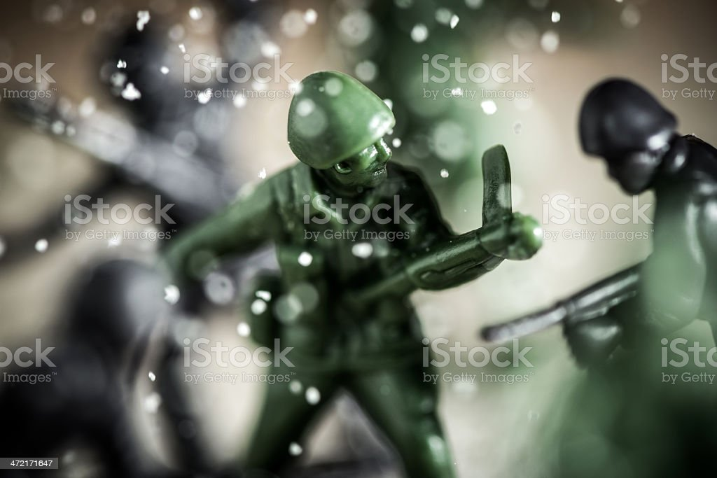 Toy soldiers war concepts royalty-free stock photo