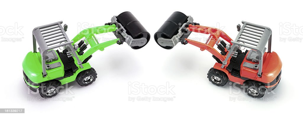 Toy Steam Rollers royalty-free stock photo