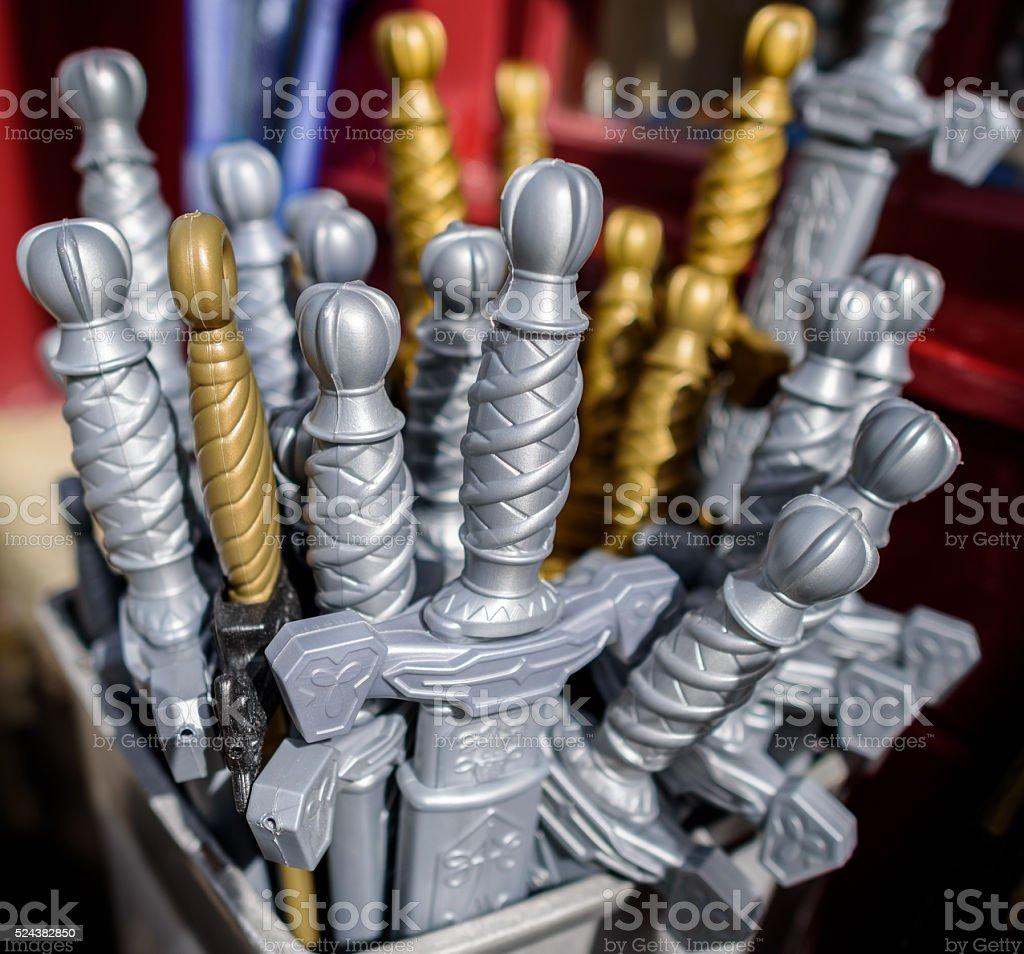 Toy Swords stock photo