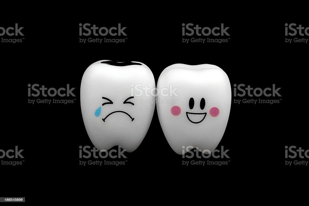 Toy teeth mood stock photo
