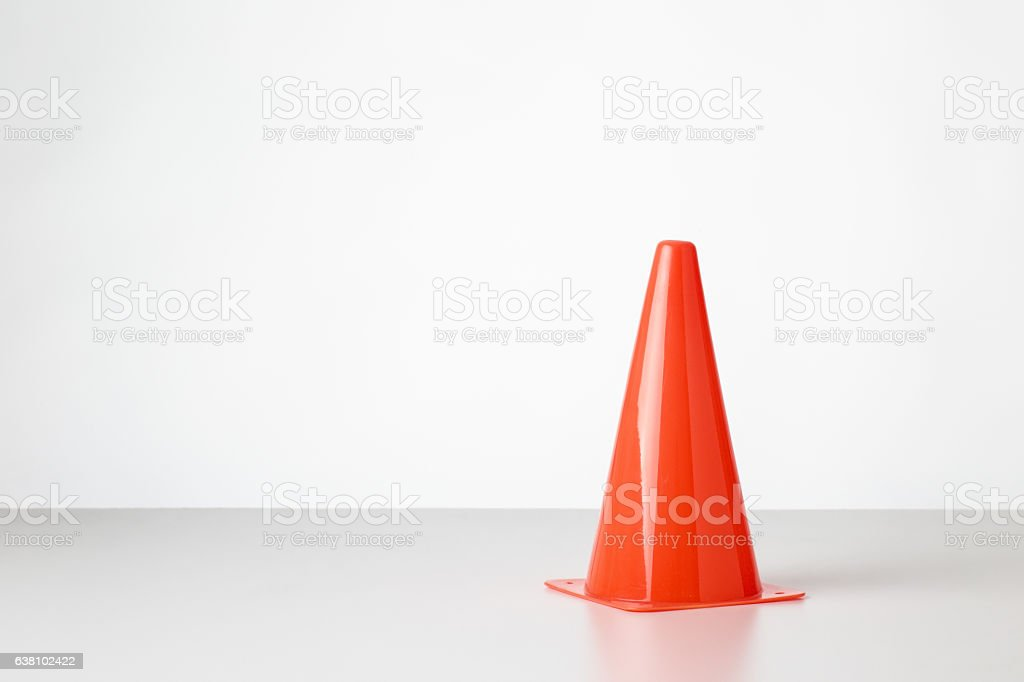 toy traffic cone stock photo