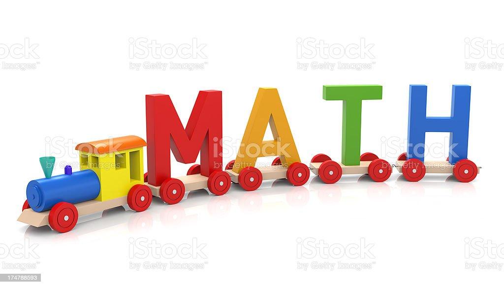 Toy Train & Mathematics royalty-free stock photo