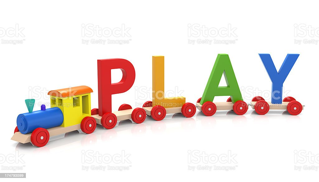 Toy Train & PLAY royalty-free stock photo