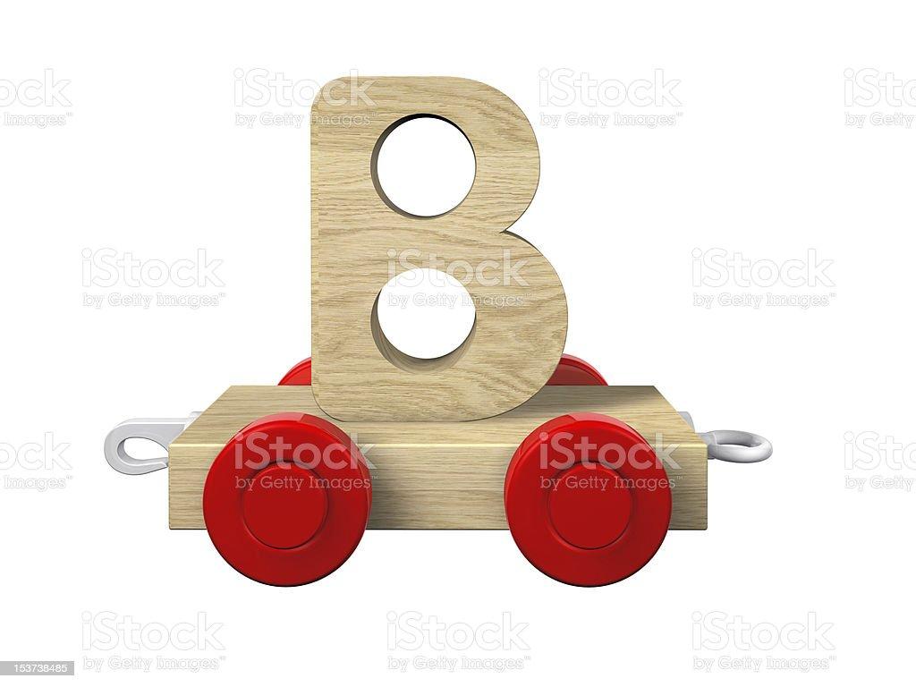 toy train - B wagon royalty-free stock photo