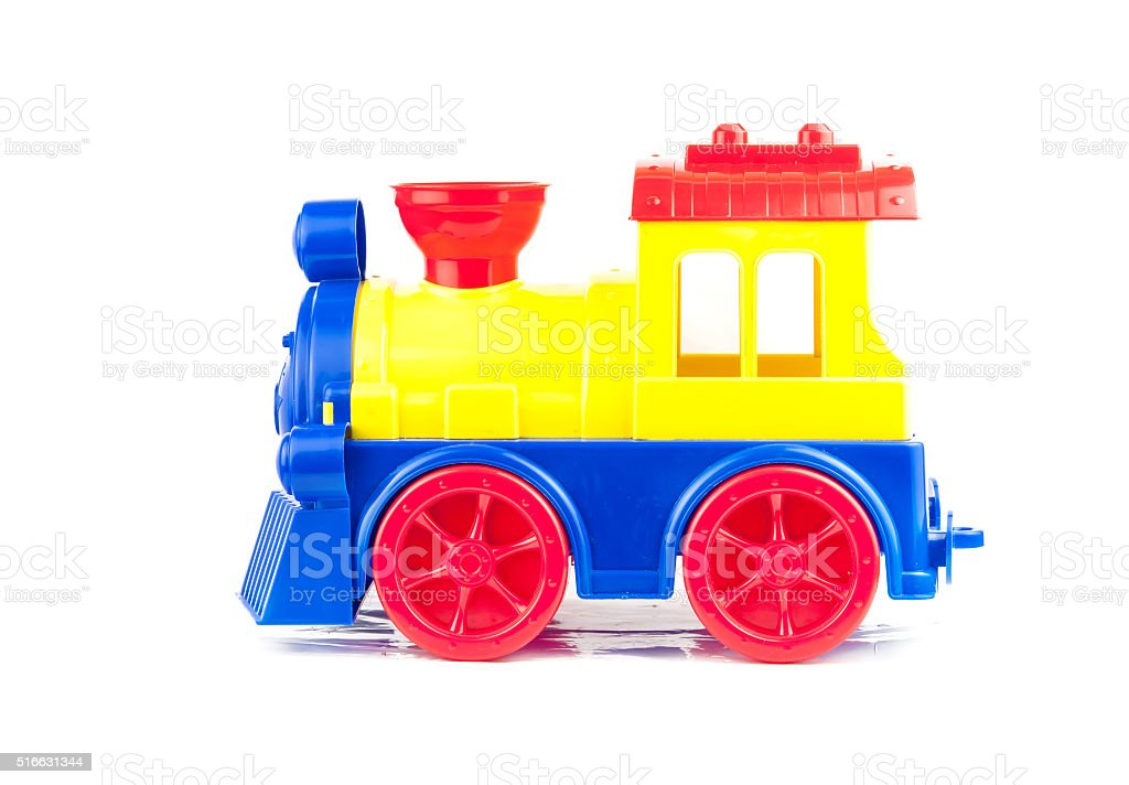 toy train isolated stock photo