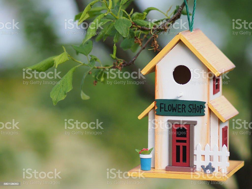 Toy treehouse stock photo