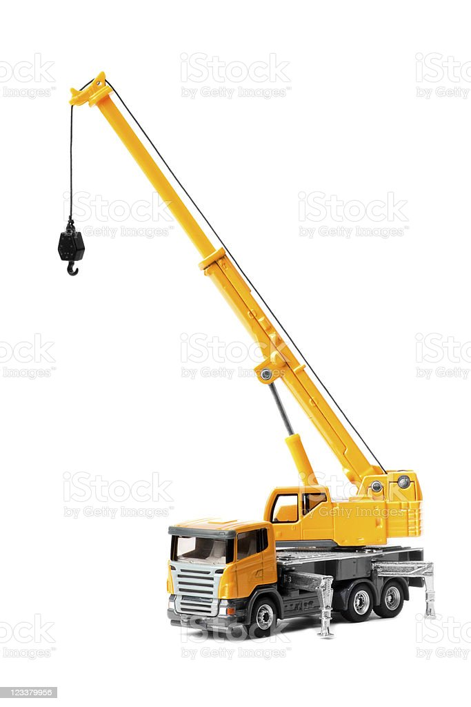 toy truck crane stock photo