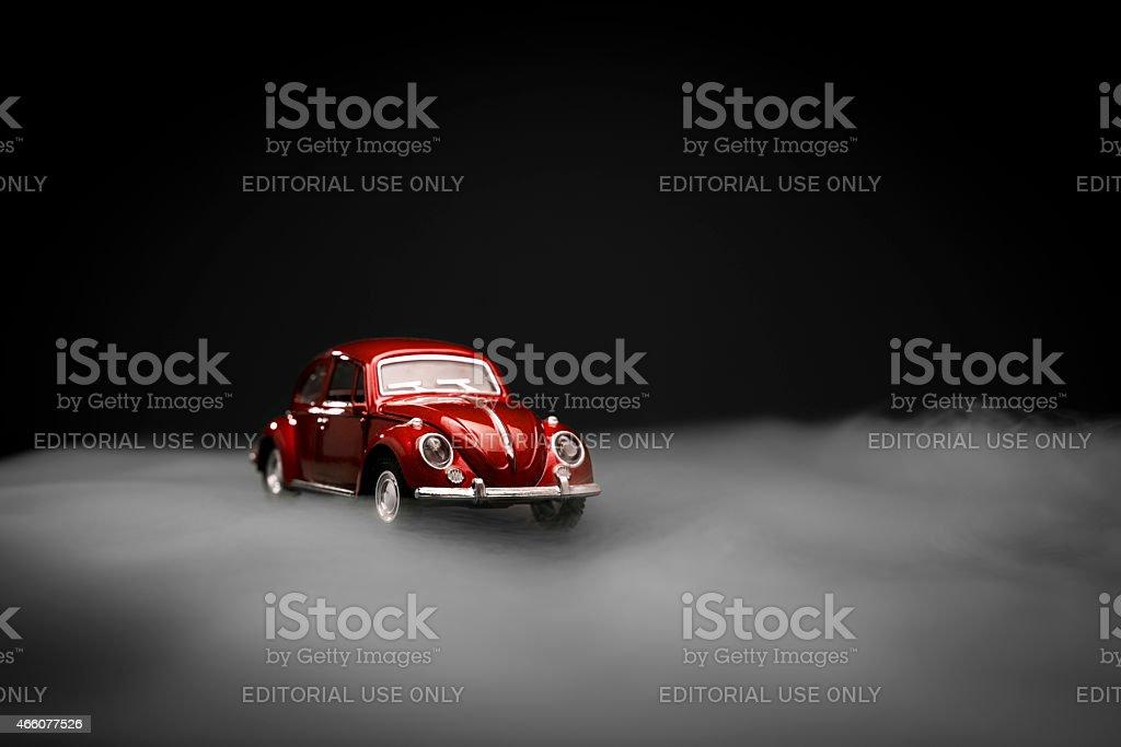 Toy Volkswagen Beetle stock photo