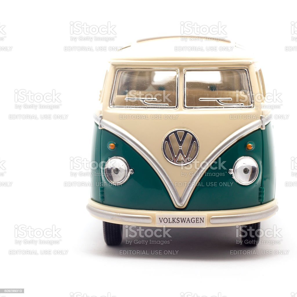 Toy Volkswagen Bus Isolated stock photo