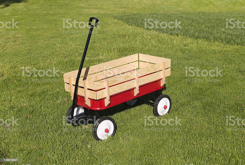 Toy Wagon stock photo