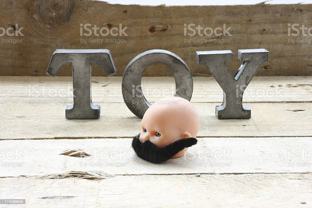 Toy with moustaches royalty-free stock photo