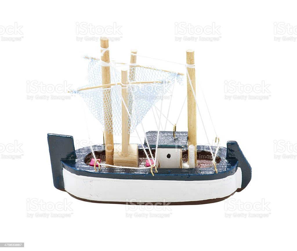 Toy Wooden Sail Boat royalty-free stock photo