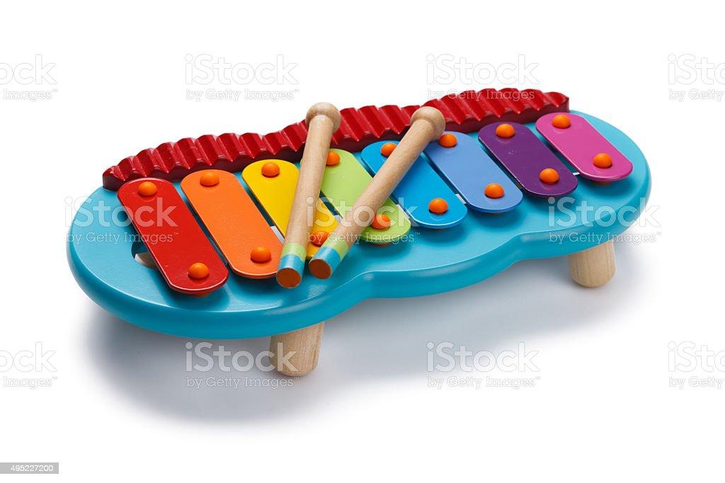 Toy Xylophone stock photo