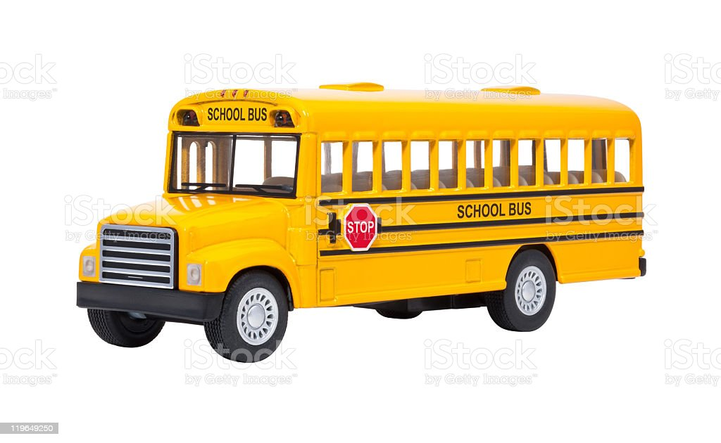 Toy Yellow School Bus royalty-free stock photo
