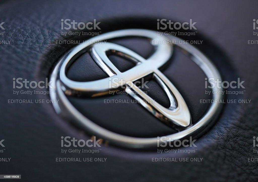 Toyota Emblem royalty-free stock photo