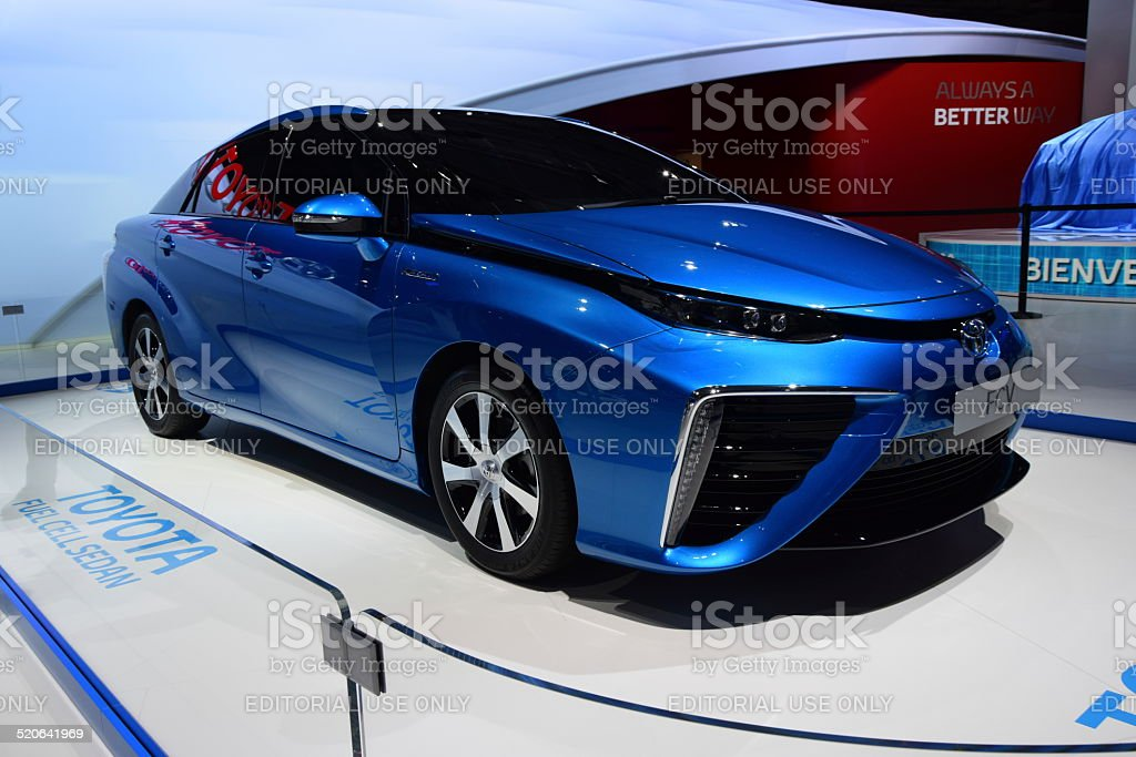 Toyota FCV - fuel cell vehicle on the motor show stock photo