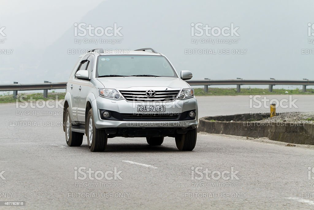 Toyota Fortuner car stock photo
