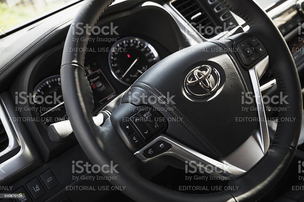 Toyota Highlander third generation interior stock photo