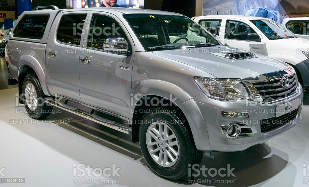 Toyota Hilux pickup truck stock photo