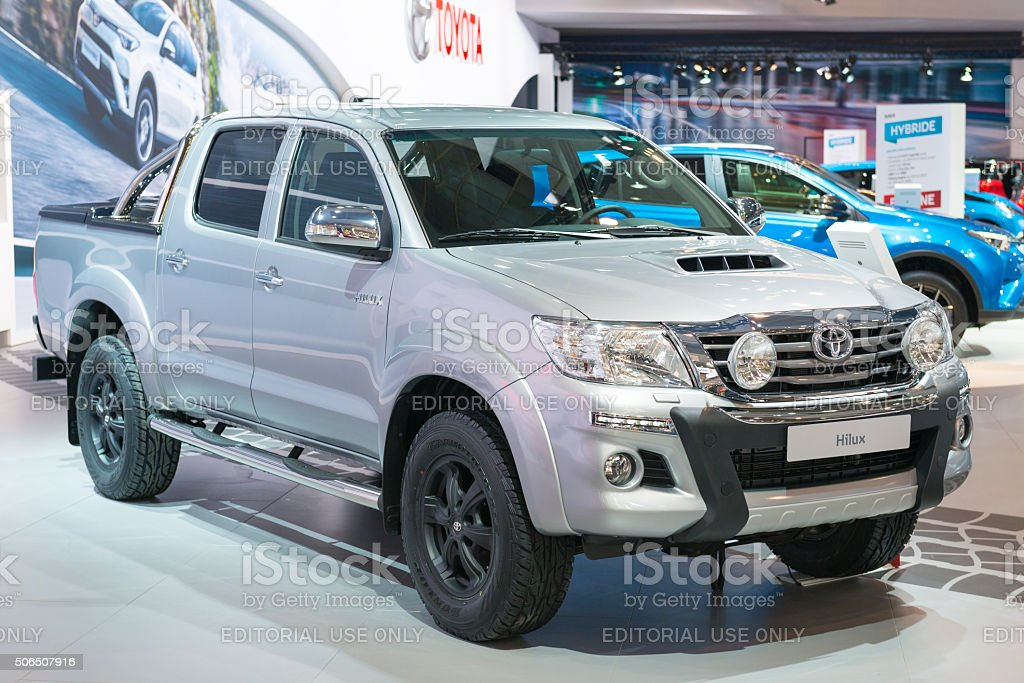 Toyota Hilux pickup truck stock photo
