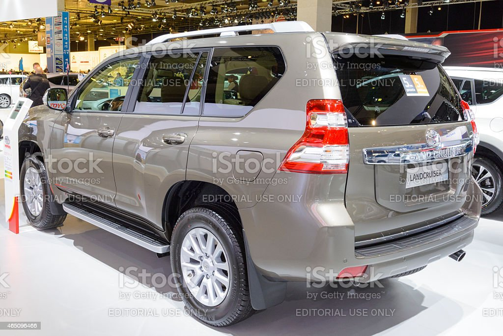 Toyota Land Cruiser 4WD off road vehicle stock photo