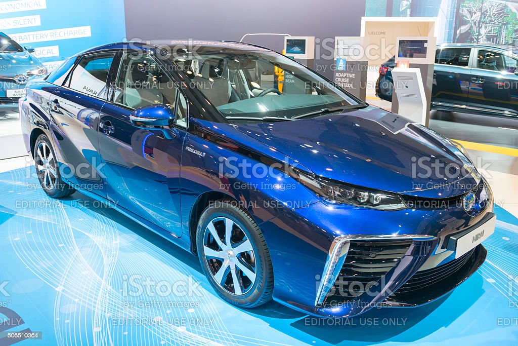 Toyota Mirai hydrogen fuel cell car stock photo