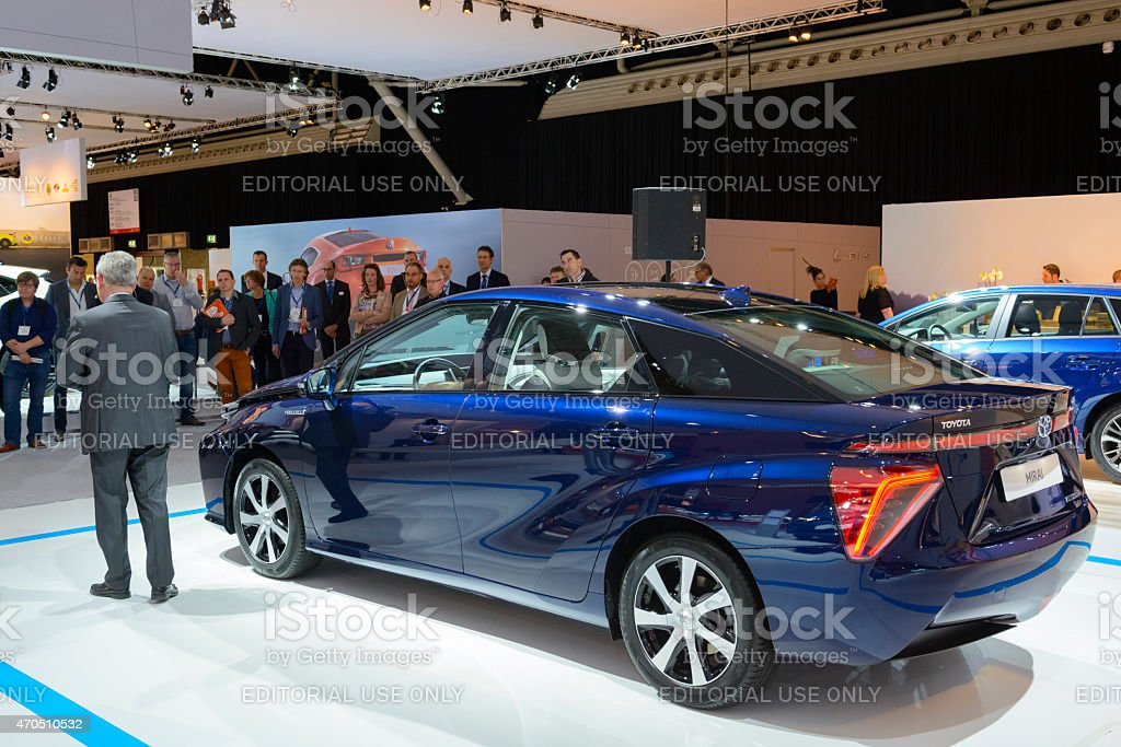 Toyota Mirai hydrogen fuel-cell car stock photo