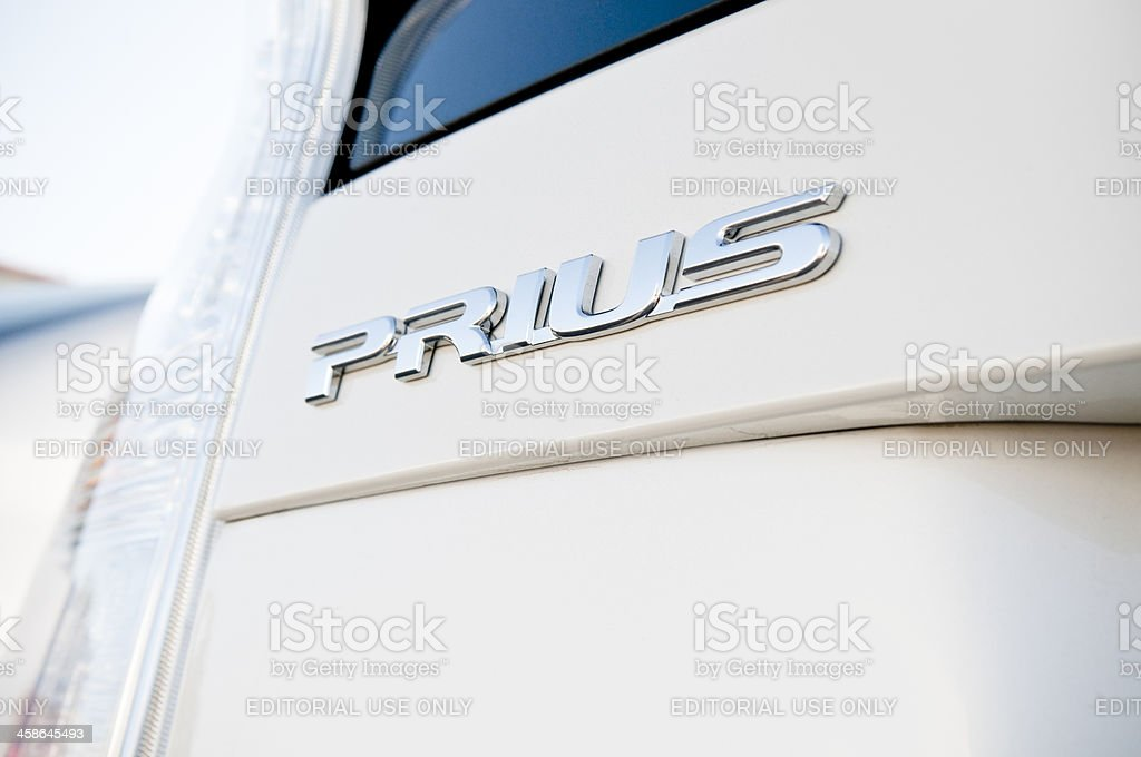 Toyota Prius hybrid royalty-free stock photo