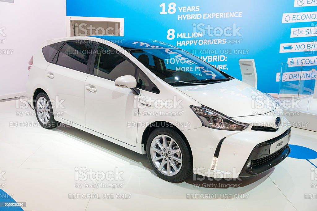 Toyota Prius + or Prius v stock photo