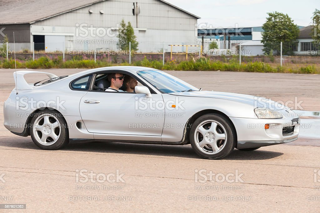 Toyota Supra SZ sport car stock photo