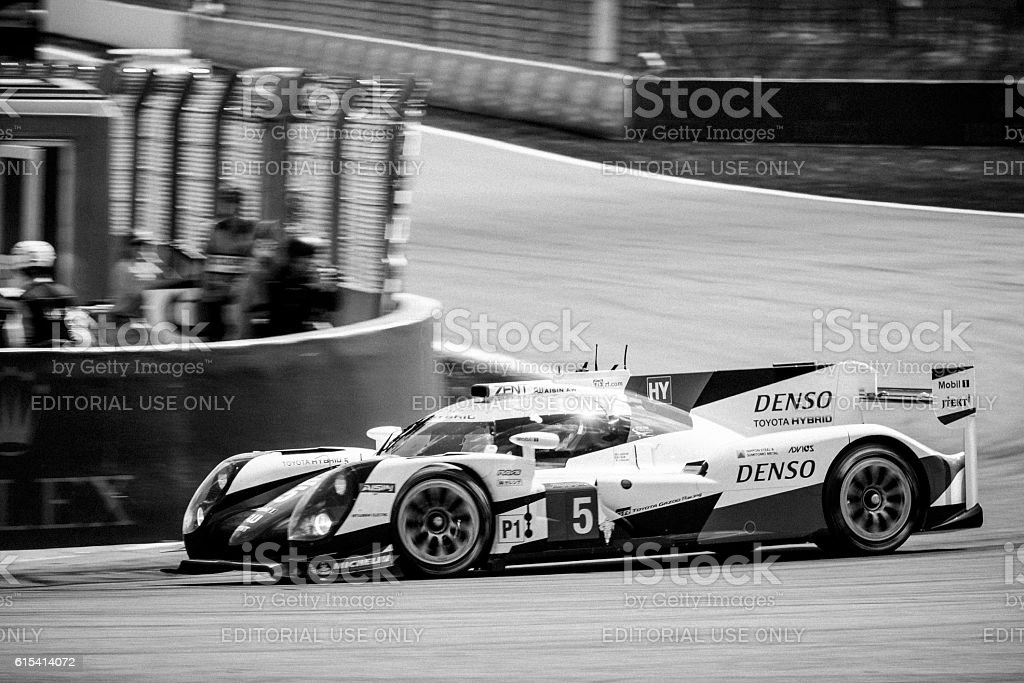 Toyota TS050 Hybrid LMP1 race car stock photo