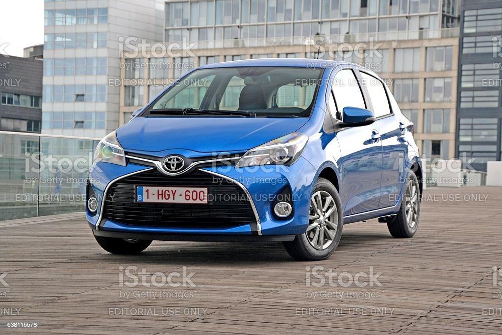 Toyota Yaris on the street stock photo