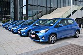 Toyota Yaris vehicles in hybrid version