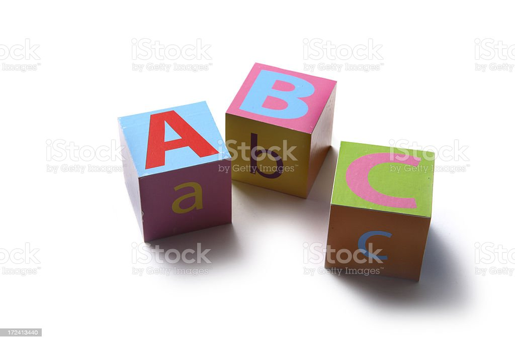 Toys: Alphabet Blocks ABC stock photo