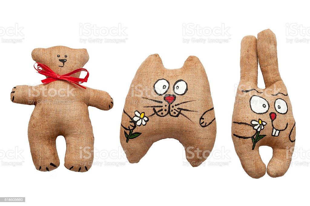 toys – bear, cat, bunny. stock photo