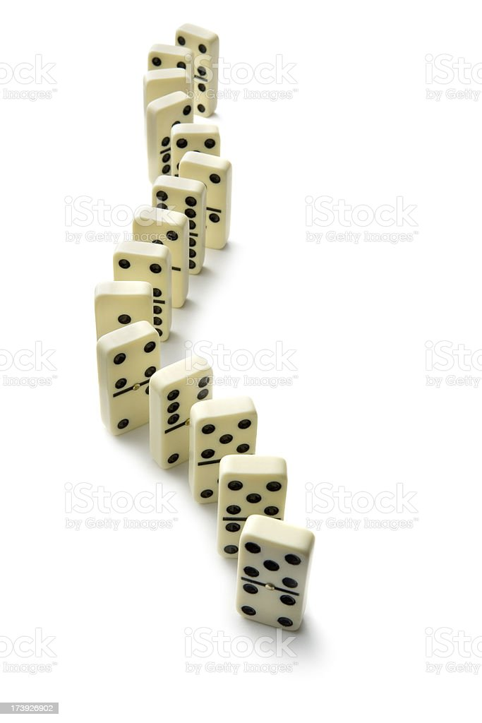 Toys: Dominos Isolated on White Background royalty-free stock photo