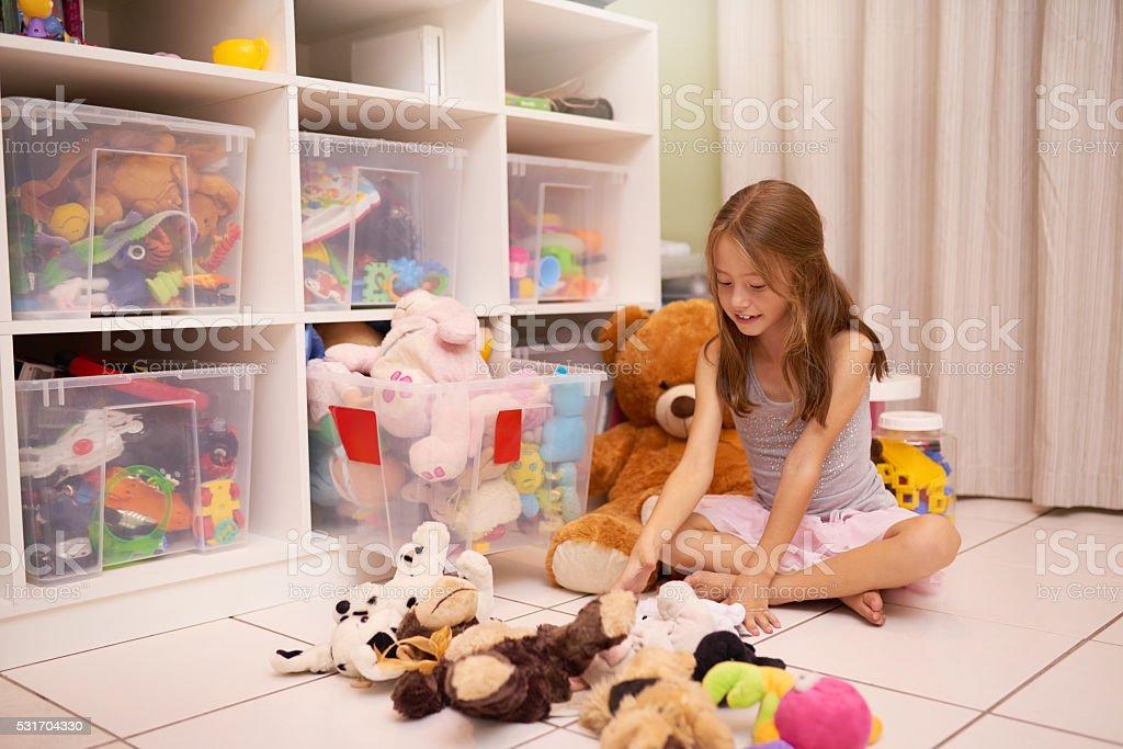 Toys galore stock photo
