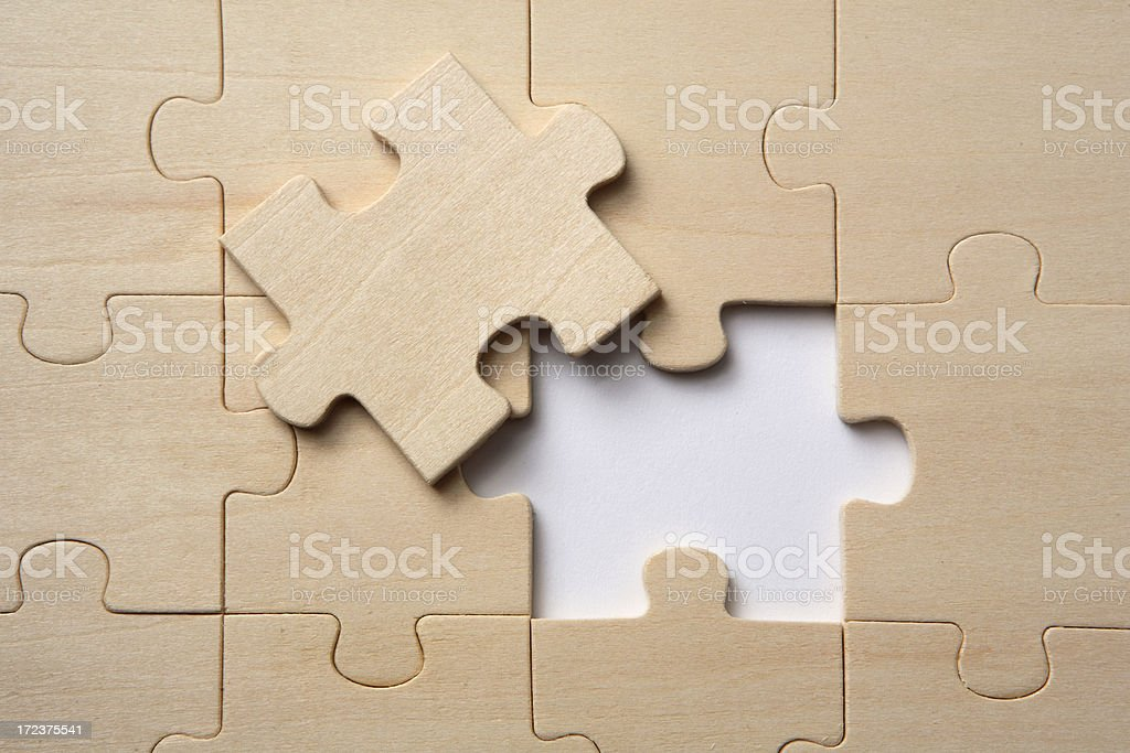 Toys: Jigsaw Puzzle royalty-free stock photo