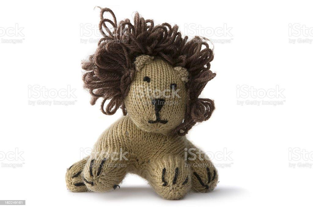 Toys: Lion Isolated on White Background royalty-free stock photo